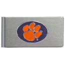 Siskiyou Buckle CBMC69 Clemson Tigers Brushed Metal Money Clip