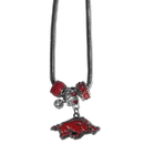 Siskiyou Buckle CBNK12 Arkansas Razorbacks Euro Bead Necklace