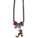 Siskiyou Buckle CBNK13 Alabama Crimson Tide Euro Bead Necklace
