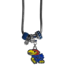 Siskiyou Buckle Kansas Jayhawks Euro Bead Necklace, CBNK21