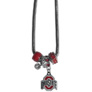 Siskiyou Buckle CBNK38 Ohio St. Buckeyes Euro Bead Necklace