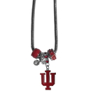 Siskiyou Buckle CBNK39 Indiana Hoosiers Euro Bead Necklace