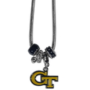 Siskiyou Buckle CBNK44 Georgia Tech Yellow Jackets Euro Bead Necklace