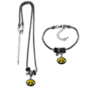 Siskiyou Buckle Iowa Hawkeyes Euro Bead Necklace and Bracelet Set, CBNK52BBR