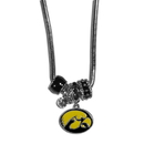 Siskiyou Buckle CBNK52 Iowa Hawkeyes Euro Bead Necklace