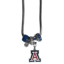Siskiyou Buckle CBNK54 Arizona Wildcats Euro Bead Necklace