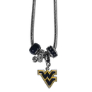 Siskiyou Buckle CBNK60 W. Virginia Mountaineers Euro Bead Necklace