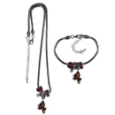 Siskiyou Buckle Arizona St. Sun Devils Euro Bead Necklace and Bracelet Set, CBNK68BBR