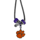 Siskiyou Buckle CBNK69 Clemson Tigers Euro Bead Necklace