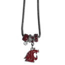 Siskiyou Buckle CBNK71 Washington St. Cougars Euro Bead Necklace