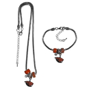 Siskiyou Buckle Oregon St. Beavers Euro Bead Necklace and Bracelet Set, CBNK72BBR