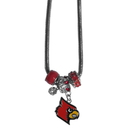 Siskiyou Buckle CBNK88 Louisville Cardinals Euro Bead Necklace
