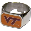 Siskiyou Buckle CBOR61-10 Virginia Tech Hokies Steel Ring