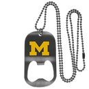 Siskiyou Buckle Michigan Wolverines Bottle Opener Tag Necklace, CBTN36
