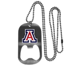 Siskiyou Buckle Arizona Wildcats Bottle Opener Tag Necklace, CBTN54