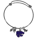 Siskiyou Buckle Kansas St. Wildcats Charm Bangle Bracelet, CCBB15