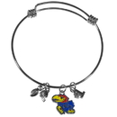 Siskiyou Buckle Kansas Jayhawks Charm Bangle Bracelet, CCBB21