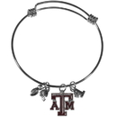 Siskiyou Buckle Texas A & M Aggies Charm Bangle Bracelet, CCBB26