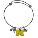 Siskiyou Buckle Michigan Wolverines Charm Bangle Bracelet, CCBB36