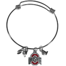 Siskiyou Buckle Ohio St. Buckeyes Charm Bangle Bracelet, CCBB38