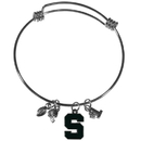 Siskiyou Buckle Michigan St. Spartans Charm Bangle Bracelet, CCBB41