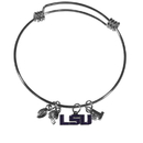 Siskiyou Buckle LSU Tigers Charm Bangle Bracelet, CCBB43