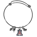 Siskiyou Buckle Arizona Wildcats Charm Bangle Bracelet, CCBB54