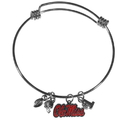 Siskiyou Buckle Mississippi Rebels Charm Bangle Bracelet, CCBB59