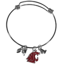 Siskiyou Buckle Washington St. Cougars Charm Bangle Bracelet, CCBB71