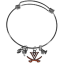 Siskiyou Buckle Virginia Cavaliers Charm Bangle Bracelet, CCBB78
