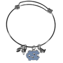 Siskiyou Buckle N. Carolina Tar Heels Charm Bangle Bracelet, CCBB9