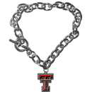Siskiyou Buckle CCBR30 Texas Tech Raiders Charm Chain Bracelet