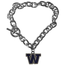 Siskiyou Buckle CCBR49 Washington Huskies Charm Chain Bracelet