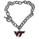 Siskiyou Buckle CCBR61 Virginia Tech Hokies Charm Chain Bracelet