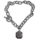 Siskiyou Buckle CCBR63 S. Carolina Gamecocks Charm Chain Bracelet