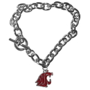 Siskiyou Buckle CCBR71 Washington St. Cougars Charm Chain Bracelet