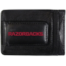 Siskiyou Buckle CCCP12 Arkansas Razorbacks Logo Leather Cash and Cardholder