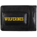 Siskiyou Buckle CCCP36 Michigan Wolverines Logo Leather Cash and Cardholder