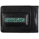 Siskiyou Buckle CCCP41 Michigan St. Spartans Logo Leather Cash and Cardholder