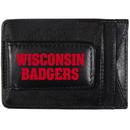 Siskiyou Buckle CCCP51 Wisconsin Badgers Logo Leather Cash and Cardholder