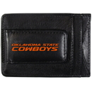 Siskiyou Buckle CCCP58 Oklahoma St. Cowboys Logo Leather Cash and Cardholder