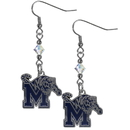 Siskiyou Buckle CCE103 Memphis Tigers Crystal Dangle Earrings
