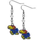 Siskiyou Buckle CCE21 Kansas Jayhawks Crystal Dangle Earrings
