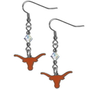 Siskiyou Buckle CCE22 Texas Longhorns Crystal Dangle Earrings