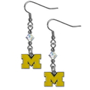 Siskiyou Buckle CCE36 Michigan Wolverines Crystal Dangle Earrings