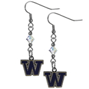 Siskiyou Buckle CCE49 Washington Huskies Crystal Dangle Earrings