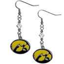 Siskiyou Buckle CCE52 Iowa Hawkeyes Crystal Dangle Earrings