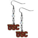 Siskiyou Buckle CCE53 USC Trojans Crystal Dangle Earrings