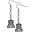 Siskiyou Buckle CCE54 Arizona Wildcats Crystal Dangle Earrings