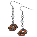 Siskiyou Buckle CCE58 Oklahoma State Cowboys Crystal Dangle Earrings